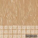 Лист скрапбумаги от Lemon Owl - Cozy Winter, Pine tree, 30x30 см, 403107 - ScrapUA.com