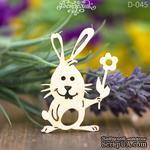 Чипборд от Вензелик - Зайчик с цветочком, 52*37 мм - ScrapUA.com