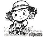 Акриловый штамп D019 Ребенок с игрушкой, размер 4,7 * 5,1 см - ScrapUA.com
