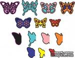 Лезвия Mini Dimensional Butterflies w Angel Wings от Cheery Lynn Designs, 14 шт. - ScrapUA.com