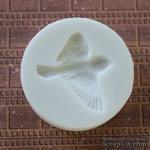 Силиконовая форма (молд) - Птичка 2, размер: 33х37 мм - ScrapUA.com