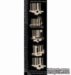 Чипборд от Dusty Attic - Bar Codes, 5 шт. - ScrapUA.com