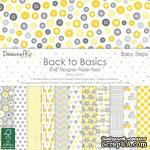 Набор бумаги от Dovecraft - Back to Basics Baby Steps (20x20 см), 48 листов, односторонняя - ScrapUA.com