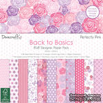 Набор бумаги от Dovecraft - Back to Basics Perfectly Pink (20x20 см), 48 листов, односторонняя - ScrapUA.com
