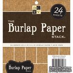 Набор кардстока DCWV Burlap, 15х15 см, 24 листа, с мешковиной - ScrapUA.com