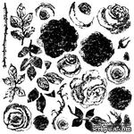 Штампы от IOD - Painterly Roses 12x12 Decor Stamp, 30x30 см - ScrapUA.com