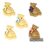 Набор декоративных пуговиц Dress It Up - Bears - ScrapUA.com