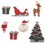 Набор декоративных пуговиц Dress It Up - Christmas Eve - ScrapUA.com