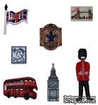 Набор декоративных пуговиц Dress It Up - England - ScrapUA.com