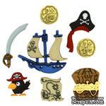 Набор декоративных пуговиц Dress It Up - Pirates - ScrapUA.com