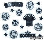 Набор декоративных пуговиц Dress It Up - Soccer - ScrapUA.com