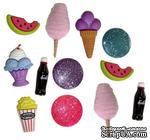 Набор декоративных пуговиц Dress It Up - Snack Attack - ScrapUA.com