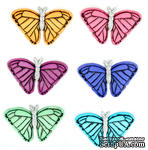 Набор декоративных пуговиц Dress It Up - Butterflies at Sunset - ScrapUA.com