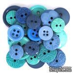 Набор декоративных пуговиц Dress It Up - Blue Hawaiian - ScrapUA.com