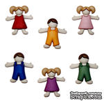 Набор декоративных пуговиц Dress It Up - Kids - ScrapUA.com