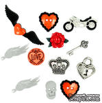 Набор декоративных пуговиц Dress It Up - Angel Heart - ScrapUA.com