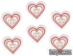 Набор декоративных пуговиц Dress It Up - Large Geo Heart Girl - ScrapUA.com