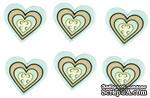 Набор декоративных пуговиц Dress It Up - Large Geo Heart Boy - ScrapUA.com
