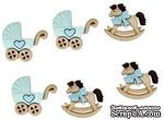 Набор декоративных пуговиц Dress It Up - Horse and Buggy Boy - ScrapUA.com