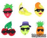 Набор декоративных пуговиц Dress It Up - Fruit Cocktail - ScrapUA.com