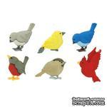 Набор декоративных пуговиц Dress It Up - Feathered Friends - ScrapUA.com