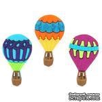 Набор декоративных пуговиц Dress It Up - Hot Air Balloons - ScrapUA.com