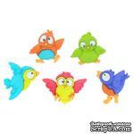 Набор декоративных пуговиц Dress It Up - Bird Brain - ScrapUA.com