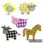 Набор декоративных пуговиц Dress It Up - Funky Farm - ScrapUA.com