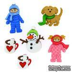 Набор декоративных пуговиц Dress It Up - Fun in the snow - ScrapUA.com