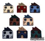 Набор декоративных пуговиц Dress It Up - Houses - ScrapUA.com