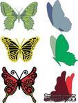 Лезвие от Cheery Lynn Designs - Small Exotic Butterflies #2 w/Angel Wings - DL113AB - ScrapUA.com