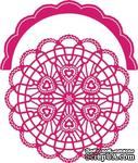 Нож для вырубки от Cheery Lynn Designs - Candy Hearts Doily with Angel Wing - ScrapUA.com
