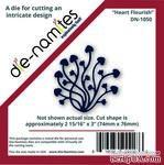 Лезвие Die-Namites - Heart Flourish - ScrapUA.com
