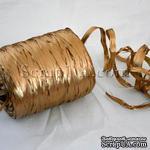 Рафия натуральная, цвет золото, 1 метр - ScrapUA.com