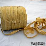 Рафия натуральная, цвет темно-соломенный с ванильным, 1 метр - ScrapUA.com