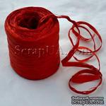 Рафия натуральная, цвет красный, 1 метр - ScrapUA.com