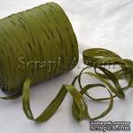 Рафия натуральная, цвет оливковый, 1 метр - ScrapUA.com