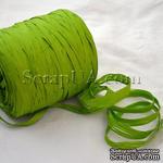 Рафия натуральная, цвет зеленый свежий, 1 метр - ScrapUA.com