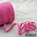 Рафия натуральная, цвет ярко-розовый, 1 метр - ScrapUA.com