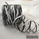 Рафия натуральная, цвет черно-белый, 1 метр - ScrapUA.com