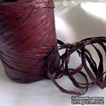 Рафия натуральная, цвет шоколадный с бордовым отливом, 1 метр - ScrapUA.com