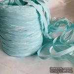 Рафия натуральная, цвет бело-голубой, 1 метр - ScrapUA.com