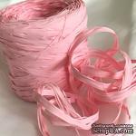Рафия натуральная, цвет нежно-розовый , 1 метр - ScrapUA.com