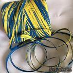 Рафия натуральная, цвет желто-голубой , 1 метр - ScrapUA.com