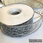 Лента-сетка с жестким кантом, цвет серый, шир. 5 м, длина 90 см - ScrapUA.com
