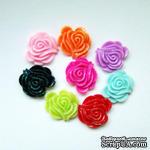 """Набор кабошонов с блестками """"Розы"""", размер 21х19 мм, 8 шт. - ScrapUA.com"""