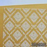 Лист дизайнерской бумаги с рисунком Роскошно 3, цвет Золото 2, А4 - ScrapUA.com