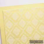 Лист дизайнерского картона с рисунком Роскошно 3, цвет Шампань, А4, 250 г/м2 - ScrapUA.com