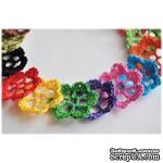 Набор вязаных цветочков, 17 штук, 4,5см, ручная работа - ScrapUA.com