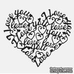 Лезвие Die-Versions - Whispers - Love All Around, размер 9,2х7,5 см - ScrapUA.com